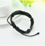 Fashion Men Women Genuine Leather Braided