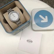 JAM FOSSIL Glitz White Dial Stainless Steel Ladies
