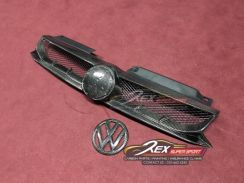 Golf Mk6 Mk7 Carbon Front Grill Lip Logo Bonnet