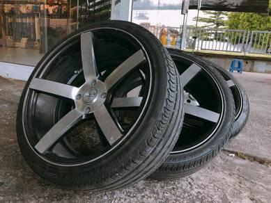 VOSSEN 17' 4 x 100PCD Sport Rims 80% Tyre Thread