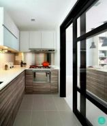 Kitchen cabinet/ sliding door/ partition