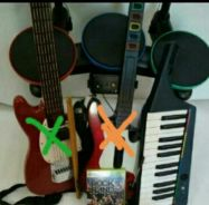 XBOX360 ROCK BAND 3 music instrument set