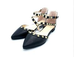 Studded High Heel Shoes High Quality Leather