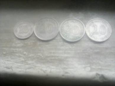 Old 20 sen coin