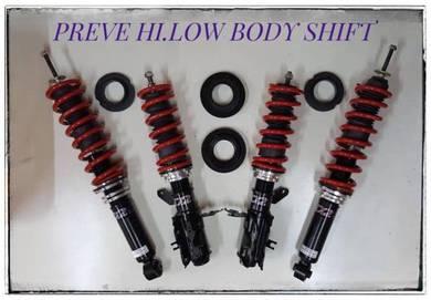 D2 adjustable hi low bodyshift for PREVE