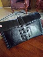 Clutch bag hermes leather