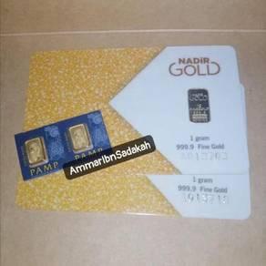Gold Bar 999.9 24k 1 gram × 4