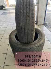Used 195/60/16 Bridgestone tyre tire tayar Wish