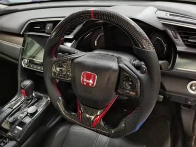 Honda civic fc carbon fiber steering wheel