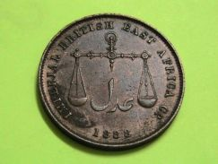British East Africa,1888 MOMBASA 1306 AH Coin