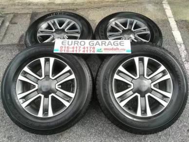 Used isuzu dmax oem 17inc rim & bridgestone tire