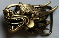 Solid Brass Buckle Dragon Head