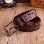 New fashion belts for men alligator style pin buck