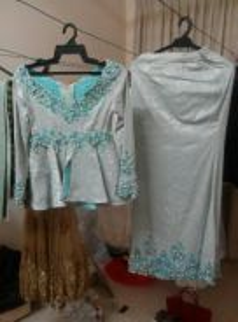 Baju sanding set lakipermpuan (songket )