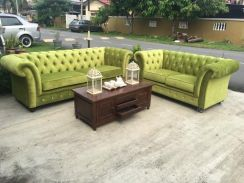 Sofa chesterfield 2 seater and 3 seater