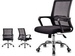 Low Back Swivel Office Chair With Mesh Backrest