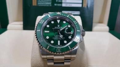 Rolex Hulk Sub Date-116610LV-Lux Watch