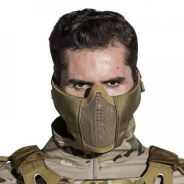 Man Half Face Metal Steel Net Mesh CS Tactical