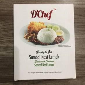 D'chef ready to eat sambal nasi lemak