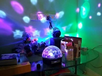 Glam RGB Color Changing LED Magic Ball disco light