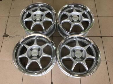 15x6.5J ENKEI RS Silver Japan Sport Rim 100x4