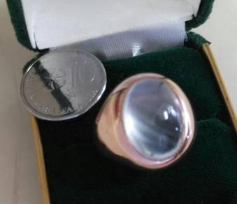 Cincin Delima Putih - white Ruby Ring