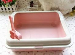 S03 cat litter box with scoop - small