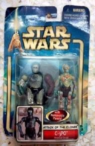 MOSC Star Wars AOTC C3P0 3.75