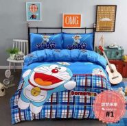 5in1 with Comforter Doreamon Bedsheet bed sheet