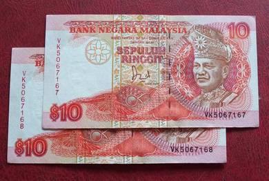 Wang Kertas Lama $10 VK5067167-68 (2pcs)