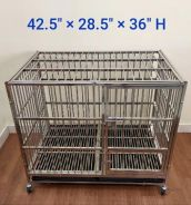 New Stainless Steel Cage for Dog