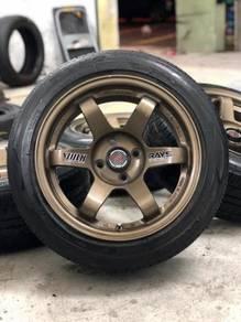 Te37sl 15 inch sports rim saga flx tyre70%
