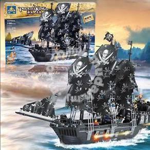 Bricks- Kazi KY 87010 Black Pearl Pirate Ship