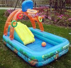 Splash pool untuk kanak-kanak With Basket ball