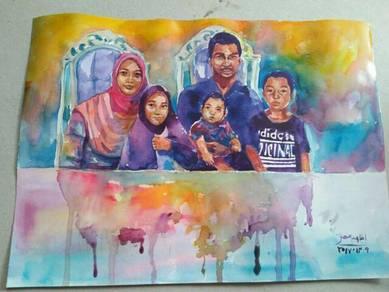 Lukisan potret keluarga