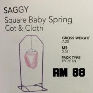 Baby Spring cot with clothes