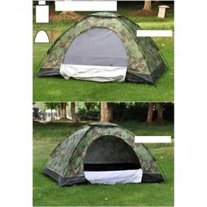 Camo army camping tent / khemah 03