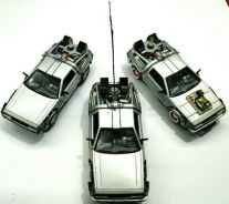 Back to the future (delorean car). part 1,2 & 3