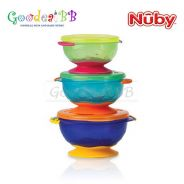 Nuby 3PK Stackable Suction Bowls With Lids