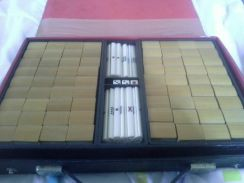 Unique travelling bamboo mahjong