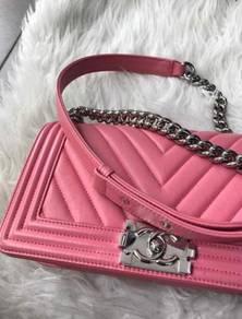 Chanel Boy beg tangan leather handbags sling bag