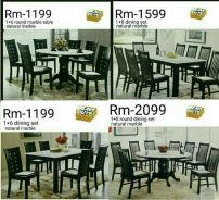 Lowest price sale natural marble dining set from-1