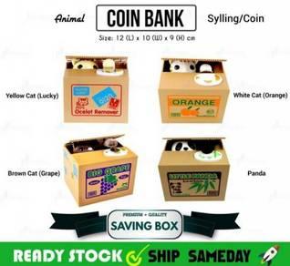 Kid Coin Box Tabung syiling Kucing (a)