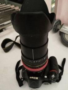 Nikon d 5200 +tamron lens 18-200