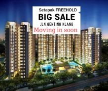 Setapak FREEHOLD NEW CONDO, ready move in, Launching now