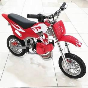 Motor scrambler merah minibike
