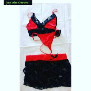 3 pcs set lingerie skirt
