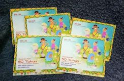 Lot of 5 set stamps 50th world children dayi