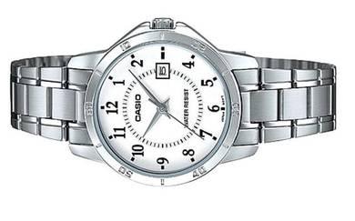 Casio Ladies Analog Quartz Date Watch LTP-V004D-7B
