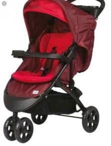 Branded baby stroller (sweet cherry) for sale!!